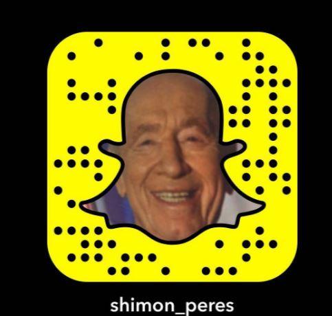 Shimon Peres Joins Snapchat