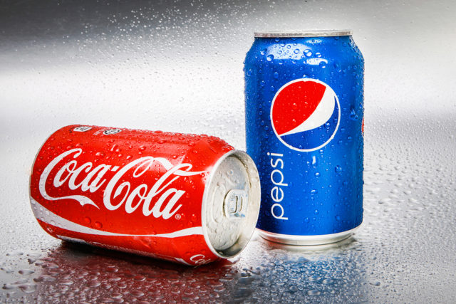 which company has the dominant position in beverage sales coke or pepsi